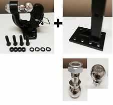 """5 ton PINTLE 2 5/16"""" + 1 7/8""""  Ball + Adjustable receiver BALL HITCH TOWING"""