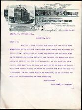 1886 Minneapolis - Agricultural Implements David Bradley & Co - Letter Head RARE