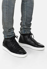 John Elliott leather high top black sneakers common projects raf simons sz 41