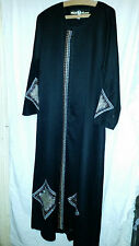 LADIES  VINTAGE  RETRO ? ASIAN WEDDING ? DRESS MESK SULA LONG BLACK / BEADS 42C