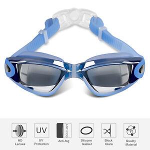 Swimming Goggles Anti-Fog Swim Glasses UV Protection HD Mirror Full Lens For Men