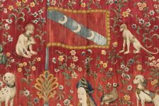 Stunning Pictorial Unicorn And Lion Rare Wall Hang Rug
