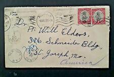 1935 Pretoria South Africa To St Joseph Missouri USA Postage Due Cover