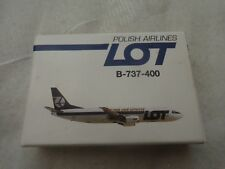 925/144 SCHABAK 1:600 BOEING B737-400 POLISH AIRLINES LOT DIECAST AIRCRAFT PLANE