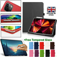 Tempered+Flip Folding Leather Stand Case Cover For Apple iPad PRO 11 2018-20-21