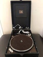 More details for hmv 102 portable picnic gramophone phonograph record player vintage antique