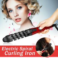 Electric Pro Ceramic Spiral Hair curler Roller Curling Iron Wand Styling