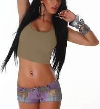 Maglie e camicie da donna marrone in misto cotone taglia S