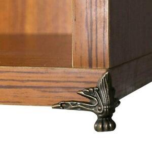 4x Antique Wood Box Feet Leg Hardware Furniture For Bracket Decor M6O3 F6X8