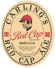 Carling's Red Cap Ale Beer Label