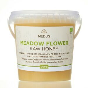 900g Meadow flower ORGANIC RAW Honey 100%PURE NATURAL  unpasteurized