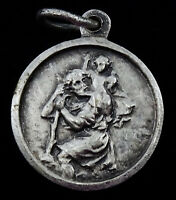 Saint St Christopher Medal French Travel Protection Charm Pendant
