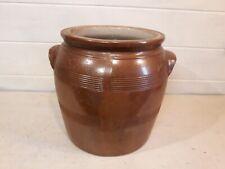 Ancien pot à graisse terrine vernissé Poterie - Vintage French Glazed Pottery