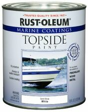 Rust-oleum 207000 Marine Coatings Topside Paint Quart Semi-gloss White