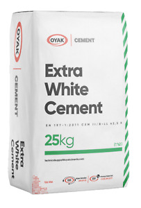 Oyak Portland Extra White Cement 25 KG X 1 Bag