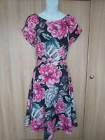 M&Co Womens Floral Fit&Flare Skater Dress Size 12