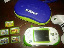 Leapster Explorer with 5 Games, Charger, Carrying Case & Disc