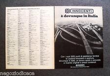 P140 - Advertising Pubblicità -1972- INNOCENTI E' DOVUNQUE IN ITALIA