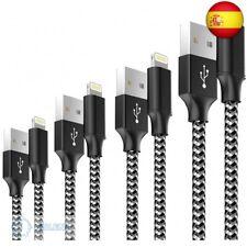 Cable Cargador iPhone, [4pack 0.5M 1M 2M 3M] MFI Cable Lightning Carga Rápida