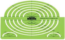 Berol® Rapidesign® Template: 124R Large Isometric Ellipse