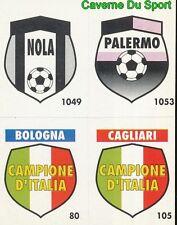147 NOLA - PALERMO - BOLOGNA - CAGLIARI CARD CARTA CALCIO QUIZ VALLARDI 1991