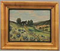 8660021 Painting Anonymous, Central German Landscape Um 1950 15 11/16x13in