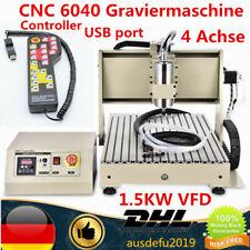 4 Achse CNC Fräsmaschine 1500W Graviermaschine USB Router Engraver + Controller