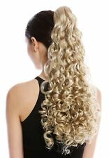 Hair Piece Ponytail Long Voluminous Strong Curly Curly Light Blonde Blond