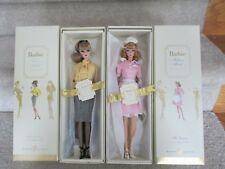 The Secretary and The Waitress Silkstone barbies - 2 dolls - NRFB - Gold Labels