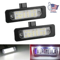 2pcs License Plate Light LED Xenon Lamp For Ford Flex Taurus Mustang Focus Edge