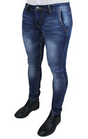 JEANS DENIM PANTALONI UOMO DIAMOND SLIM FIT CASUAL BLU STRETCH da 42 a 56