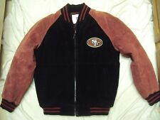 San Fran 49'ers Suede Leather Jacket Adult Size Medium New Without Tags!