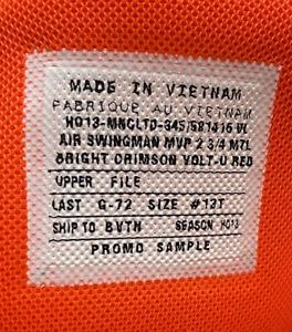 Nike Swingman sz 13  Griffey Vintage Og MVP Sample Og promo pe rare Lot cleats