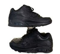 Nike 302519 001 Air Max 90 Essential Leather Men's Shoes Size 8 (Black)