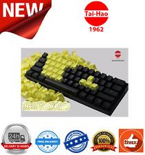 Tai-Hao TPR Rubber Gaming Backlit Double Shot 22 Keys Neon Yellow KEY0096