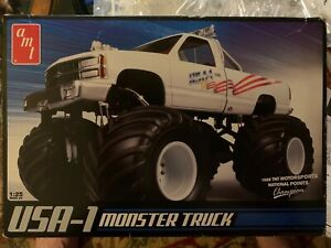 USA-1 MONSTER TRUCK box open but Originally Sealed parts bags