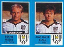 380 BENNIE MEEUS / JEAN-MARIE CLAES BELGIQUE FC.DIEST STICKER FOOTBALL 87 PANINI