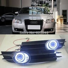 2x LED Daytime Fog Lights Projector angel eye kit For Audi A6 A6L C5 2005 - 2008