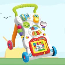 Cartoon Stroller For Toddler Walk Learning Playing Baby Kids Toy Multifunctional