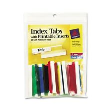 Avery Index Tabs With Laser Printable Inserts - 16239