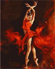 40x50cm Malen nach Zahlen DIY Feuer Tanz Malerei Zimmer Dekor Rahmenlos 67