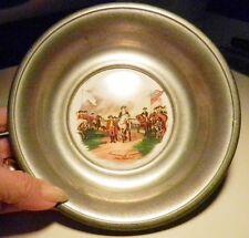 H&R Johnson Porcelain Tile Pewter Rimmed Bowl ~Surrender of Cornwallis-England