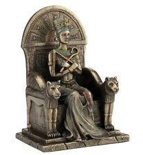 "9"" Egyptian Nefertiti Sitting on Throne Sculpture Ancient Egypt Statue Figure"