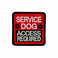 "SERVICE DOG - ACCESS REQUIRED (Sew-on) SD-015 - Service Dog Patch-2.5"" x 2.5"""