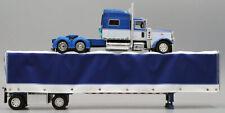 DCP ANDERSON TRUCKING BLUE WHITE PETERBILT 389 70 SLEEPER ROLL TARP 1/64 60-0495