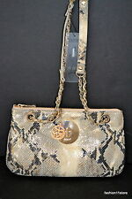 DKNY Metallic Python Handbag Bolsa Sac Väska Handtasche Сумка NWT