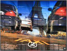 TAXI 2 Affiche Cinéma GEANTE / WIDE Movie Poster TOUR EIFFEL PARIS COTTILLARD