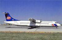 Airplane Postcard   JAT  Yugoslav Airlines Aerospatiale ATR-72 c/n 180 YU-ALN