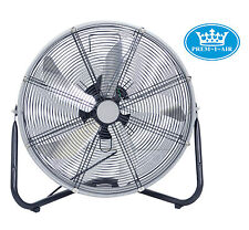 "Genuine PREM-I-Air GRANDE 20"" in Alluminio Argento & Nero Ultra Slim Drum Floor Fan"