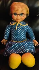 Mattel 1967 Talking Mrs. Beasley Doll Complete With Original Plastic Glasses